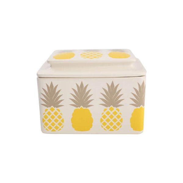 T & G Tutti Frutti Pineapple Butter Dish