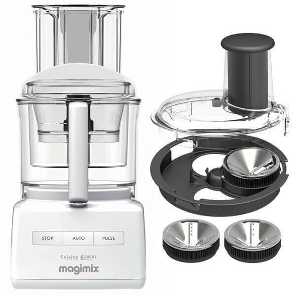 Magimix 5200XL White BlenderMix Food Processor with FREE Gift