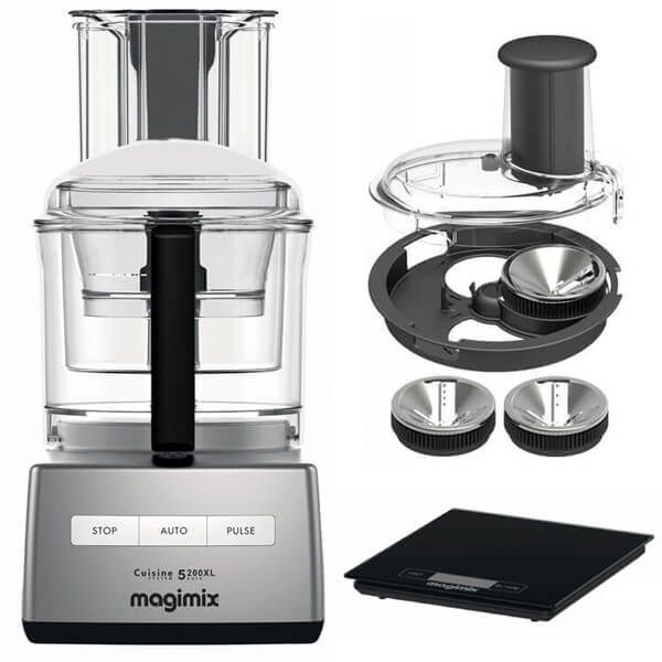 Magimix 5200XL Satin BlenderMix Food Processor with FREE Gifts