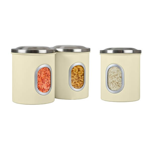 Denby Set Of 3 Canisters Cream