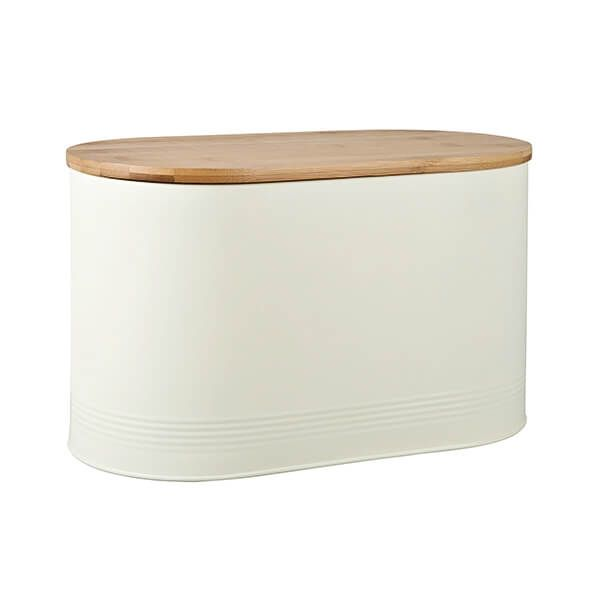 Denby Bread Bin With Bamboo Lid Cream