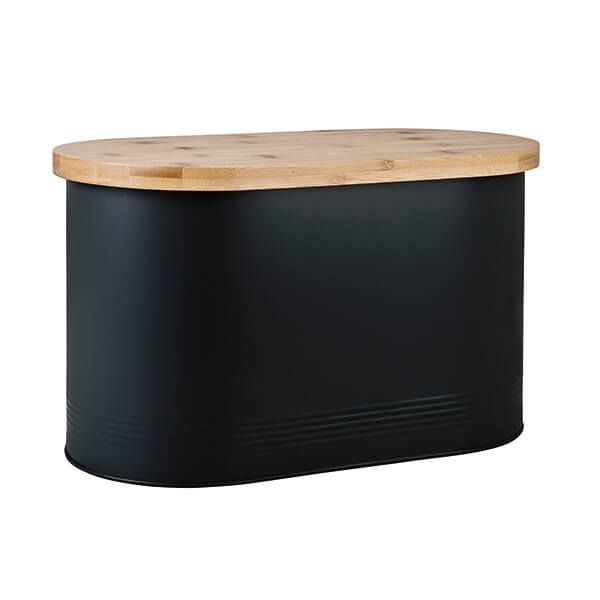 Denby Bread Bin With Bamboo Lid Black