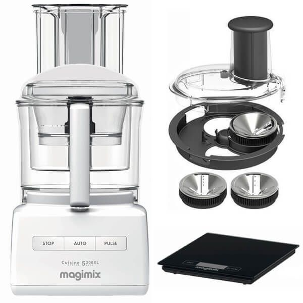 Magimix 5200XL Premium White BlenderMix Food Processor with FREE Gifts
