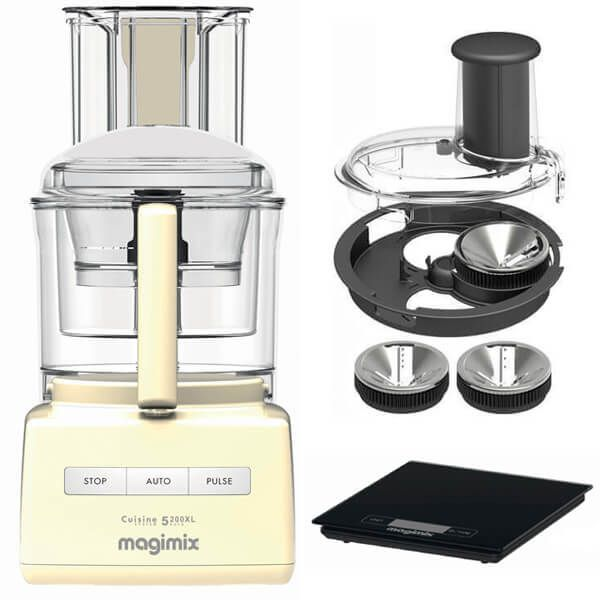 Magimix 5200XL Premium Cream BlenderMix Food Processor with FREE Gifts