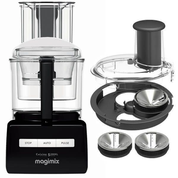 Magimix 5200XL Premium Black BlenderMix Food Processor with FREE Gift