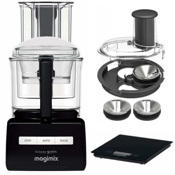 Magimix 5200XL Premium Black BlenderMix Food Processor with FREE Gifts