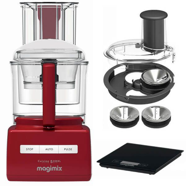 Magimix 5200XL Premium Red BlenderMix Food Processor with FREE Gifts