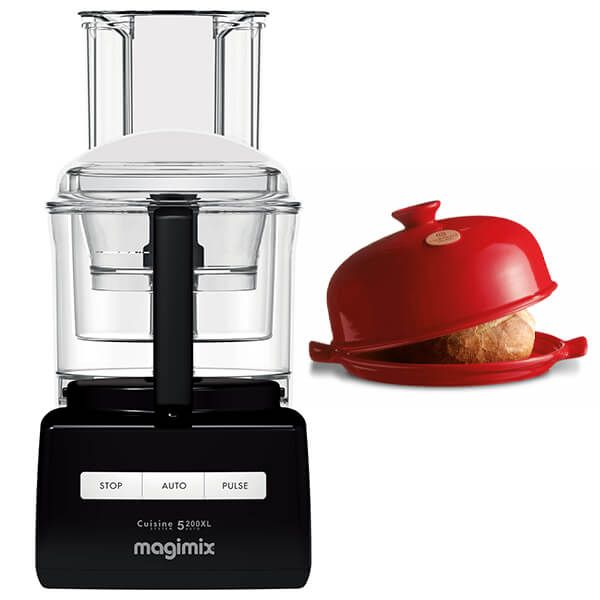 Magimix 5200XL Premium Black Food Processor with FREE Gift