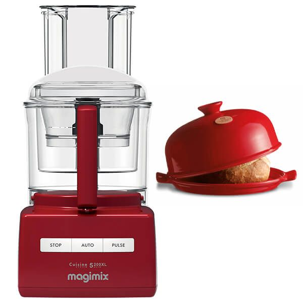 Magimix 5200XL Premium Red Food Processor with FREE Gift