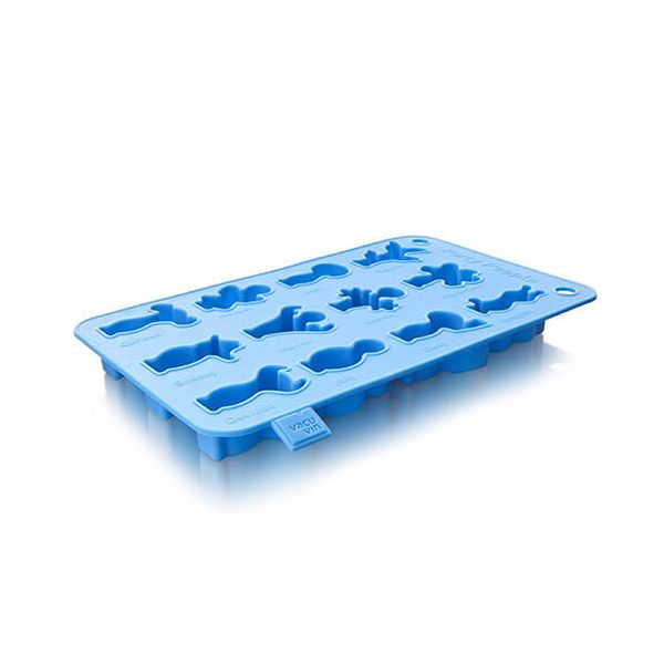 Vacu Vin Ice Cube & Baking Tray Party People Blue
