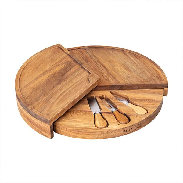James Martin Denby 4 Piece Cheese Board Set