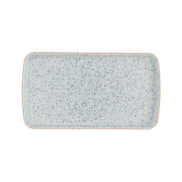 Denby Halo Speckle Small Rectangular Platter