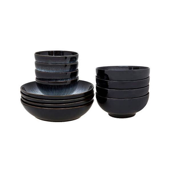 Denby Halo 12 Piece Bowl Set