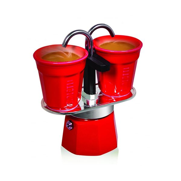 Bialetti Mini Express Double Serve Red Gift Set