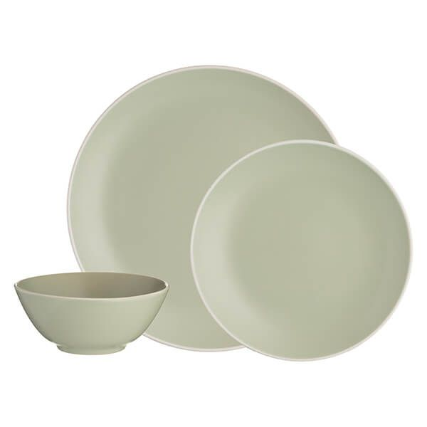 Mason Cash Classic Collection Green 12 Piece Dinner Set