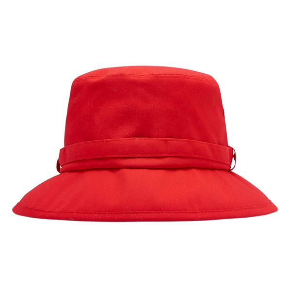 Joules Coast Red Fabric Rain Hat