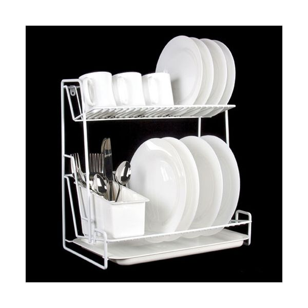Delfinware Wireware White 2 Tier Plate Rack