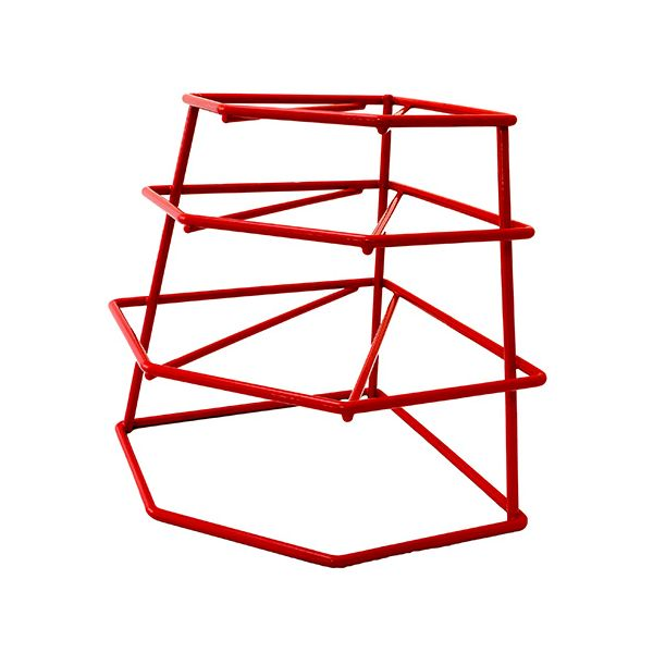 Delfinware Wireware Red 4 Tier Plate Stacker
