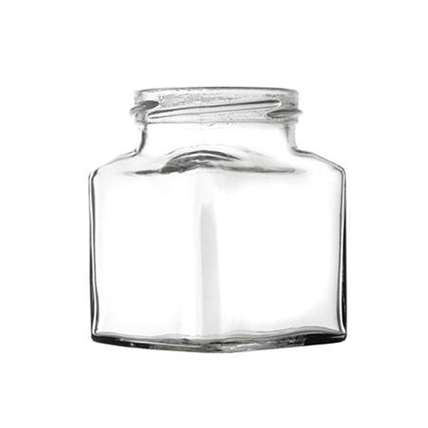 Set Of Forty Eight 200g Square Jars & Lids