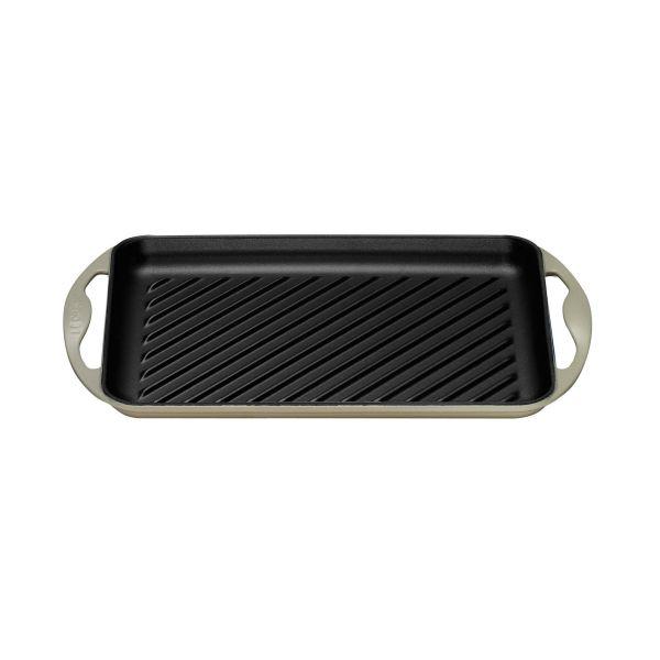 Le Creuset Almond Cast Iron 32.5cm Rectangular Grill