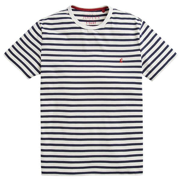 Joules Boathouse Cream Navy Stripe Striped Crew Neck Tee