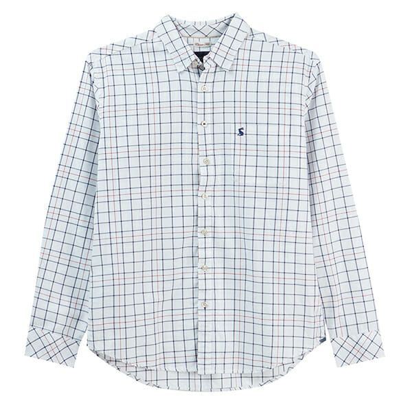 Joules Welford Chalk Multi Check Long Sleeve Classic Fit Check Shirt