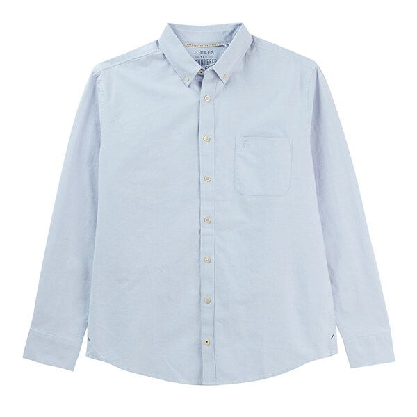 Joules Soft Blue Long Sleeve Classic Fit Oxford Shirt