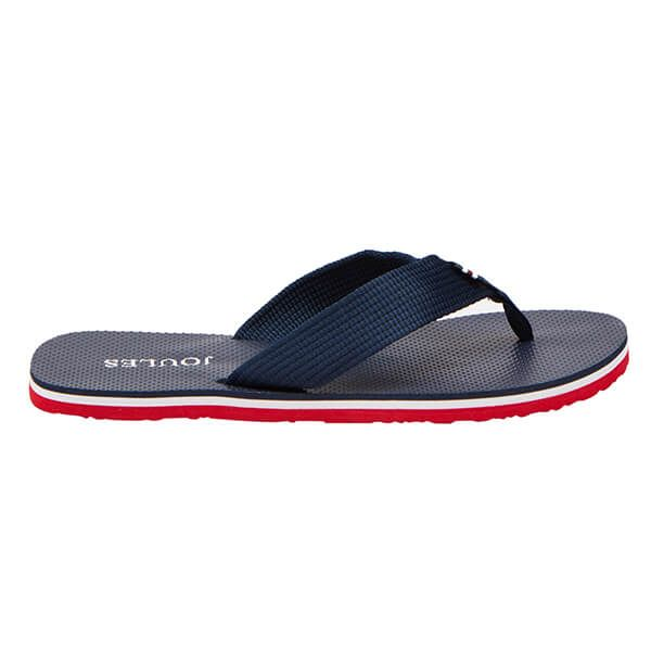 Joules French Navy Flip Flops With Webbing Straps
