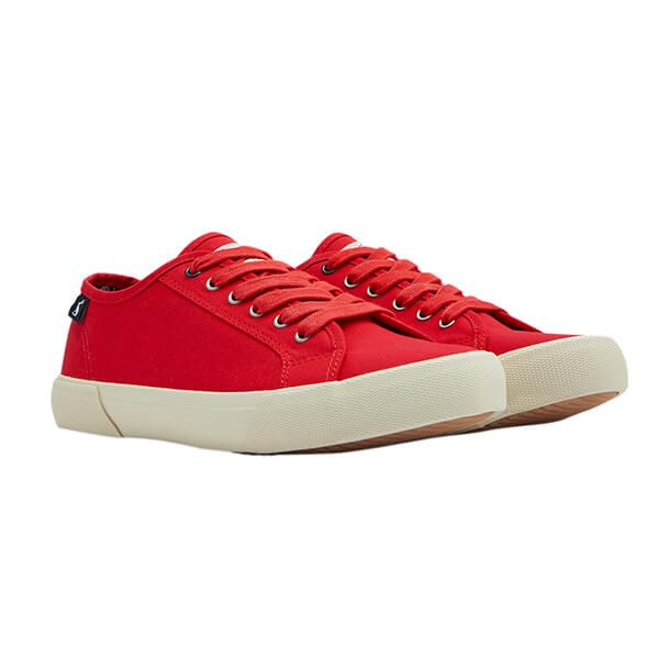 Joules Red Coast Pump Canvas Trainers