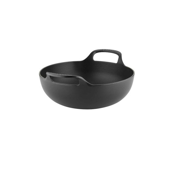 Le Creuset Satin Black Cast Iron 24cm Balti Dish