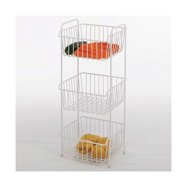Delfinware Wireware White 3 Tier Vegetable Rack