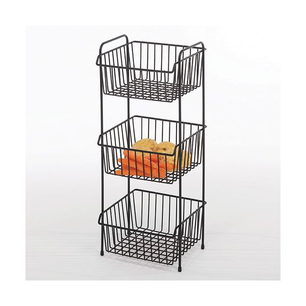 Delfinware Wireware Black 3 Tier Vegetable Rack