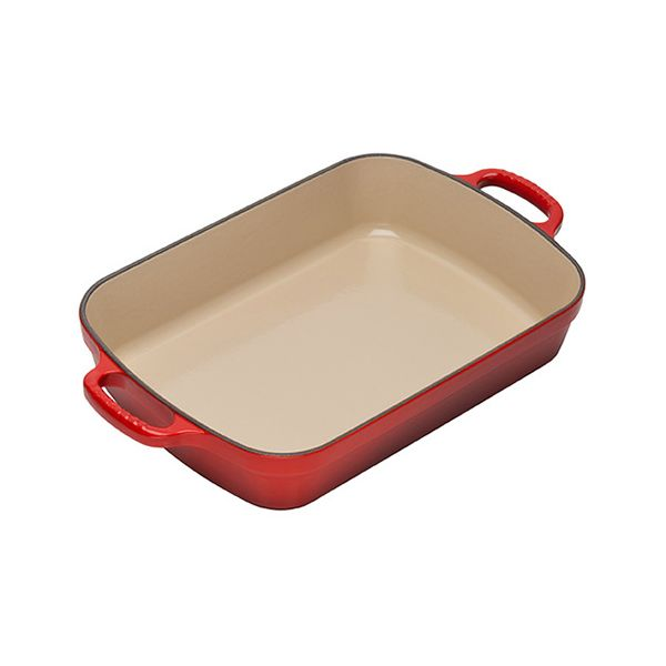 Le Creuset Signature Cerise Cast Iron 33cm Rectangular Roaster