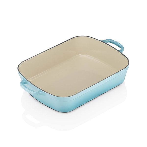 Le Creuset Signature Teal Cast Iron 33cm Rectangular Roaster