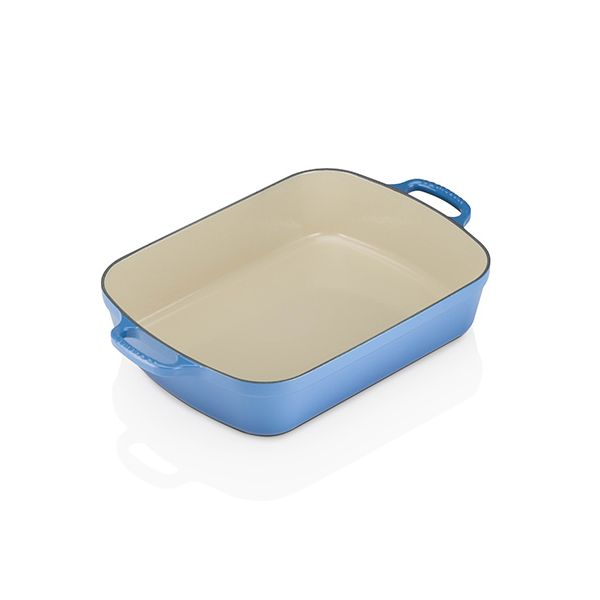 Le Creuset Signature Marseille Blue Cast Iron 33cm Rectangular Roaster