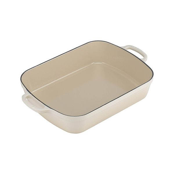 Le Creuset Signature Almond Cast Iron 33cm Rectangular Roaster