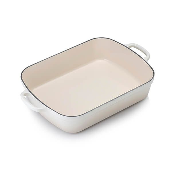 Le Creuset Signature Meringue Cast Iron 33cm Rectangular Roaster
