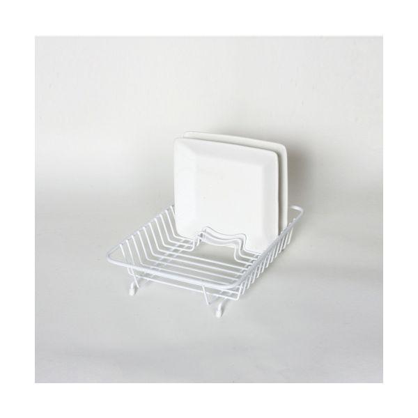 Delfinware Wireware White Compact Dish Drainer