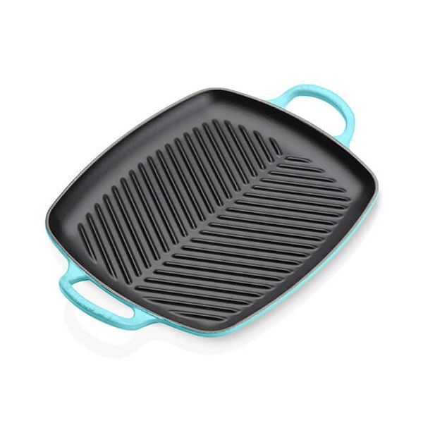 Le Creuset Signature Teal Cast Iron 30cm Rectangular Grill