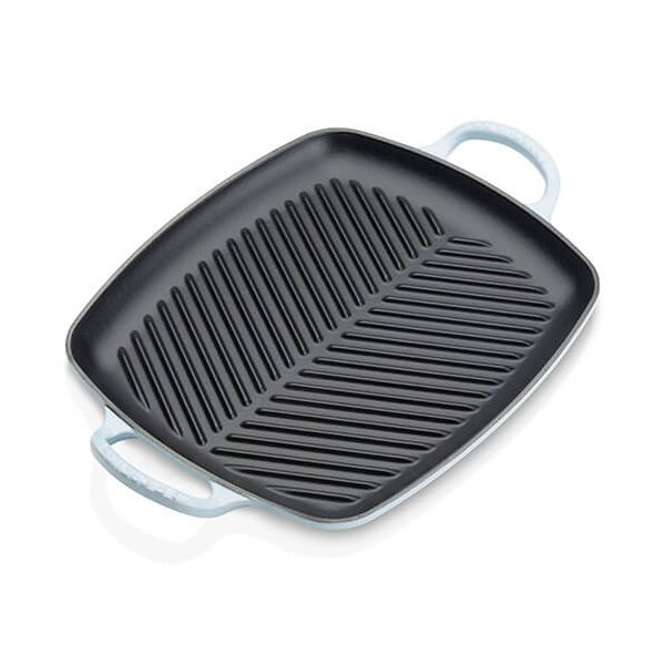 Le Creuset Signature Coastal Blue Cast Iron 30cm Rectangular Grill