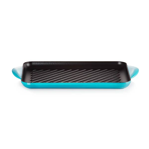 Le Creuset Teal Cast Iron 32cm Rectangular Grill