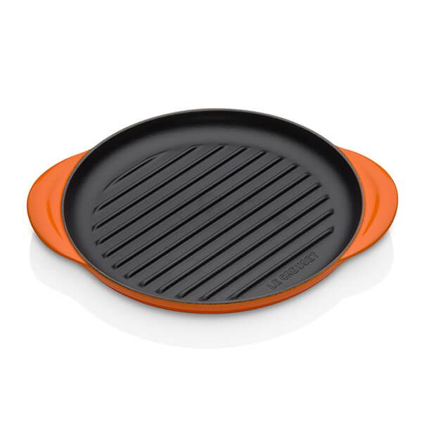 Le Creuset Volcanic Cast Iron 25cm Round Grill