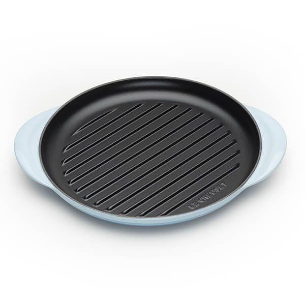 Le Creuset Coastal Blue Cast Iron 25cm Round Grill