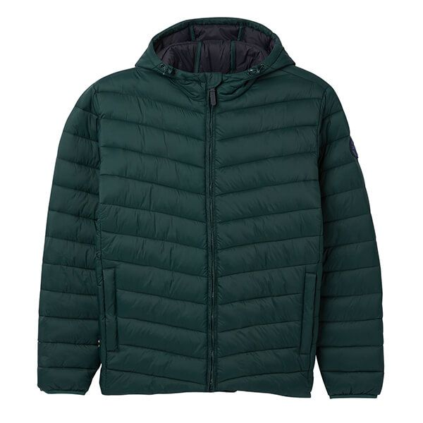 Joules Hooded Go To Dark Deep Emerald Hooded Padded Jacket