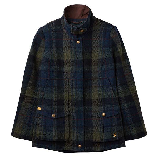 Joules Fieldcoat Green Blue Tweed Jacket