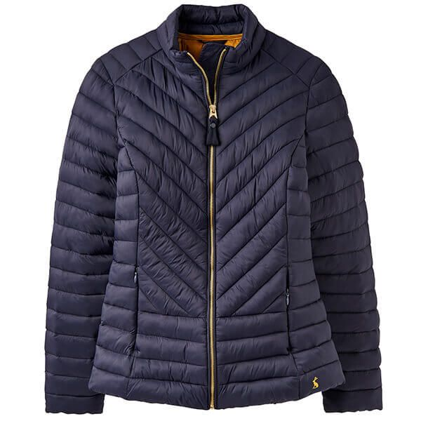Joules Elodie Marine Navy Chevron Quilted Jacket