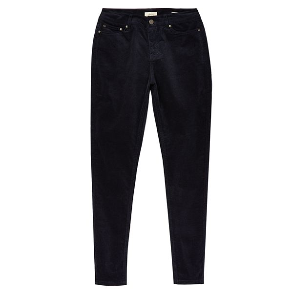Joules Monroe Cord Marine Navy High Rise Stretch Trousers