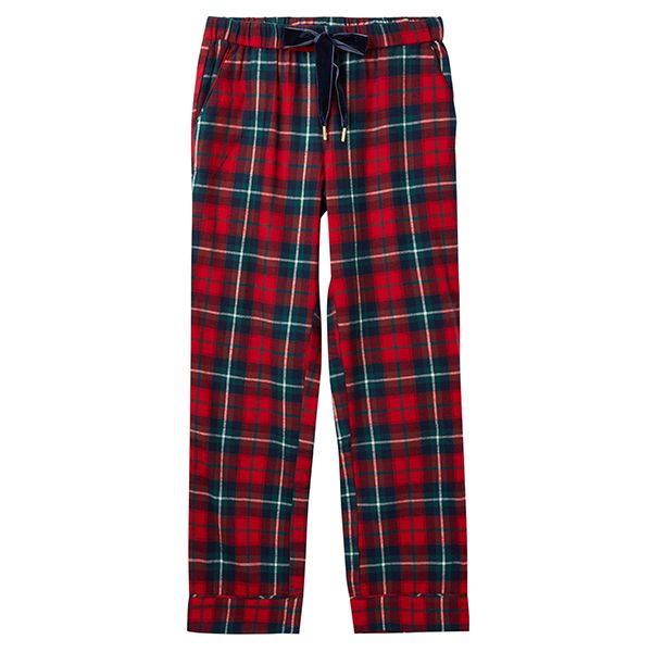 Joules Snooze Red Check Woven Pyjama Bottoms