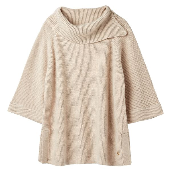 Joules Sarah Oat Knitted Poncho