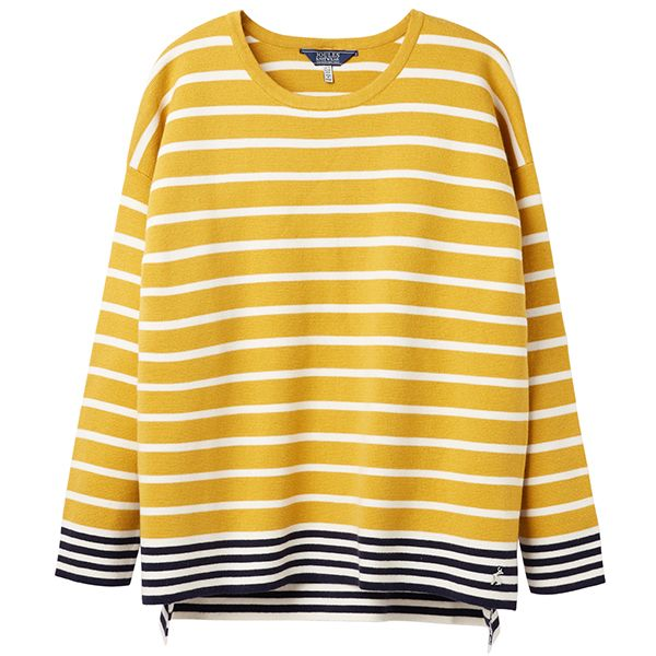 Joules Uma Antique Gold Boat Neck Jumper